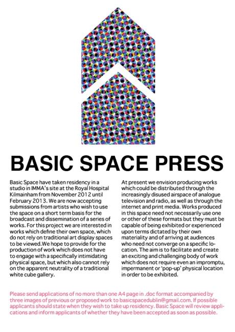 BASIC SPACE PRESS OPEN CALL